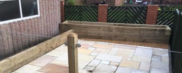 Sleeper Trellis Lanscaping Work Leeds